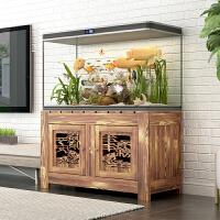 水族箱底柜、实木鱼缸柜、储物柜、碳化置物柜、可定做、