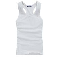 夏季男士工字背心男弹力修身型紧身健身运动棉打底衫青年透气潮 5XL 220斤左右穿