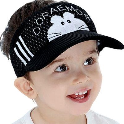 儿童帽子男潮户外时尚太阳帽薄旅游遮阳防晒鸭舌帽宝宝男童女童空顶帽