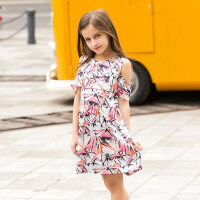 女童连衣裙夏公主裙大童女装夏装宽松碎花裙160少女裙子8 9岁