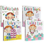Lulu 露露系列 认知操作书4本套装 Lulu's Loo Lulu's Clothes Lulu's Lunch