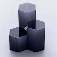 ins风创意办公桌面个性六边形笔筒软装饰品摆件房间床头柜小摆设