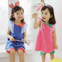 *儿童装女童背心套装夏装2018新款潮韩版运动休闲