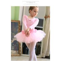 儿童舞蹈服 女童表演出服芭蕾舞裙幼儿舞蹈练功服装长袖