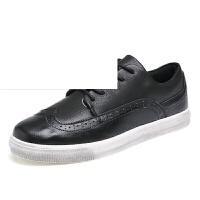 布洛克雕花男鞋秋季透气潮鞋英伦系带厚底学生低帮休闲板鞋子