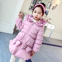 韩版8洋气儿童装时髦9中大童公主棉袄10岁女童棉衣中长款