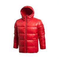 乐途短款羽绒服男士运动生活系列保暖连帽冬季白鸭绒运动服EYMJ007