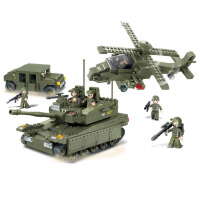 【当当自营】小鲁班陆军部队2军事系列儿童益智拼装积木玩具 两栖突击M38-B0309