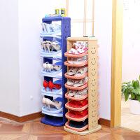 创意鞋架 日式塑料收纳鞋柜旋转鞋架组合鞋柜多层简易家用鞋架