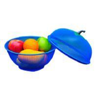 水果篮创意时尚苹果造型带盖果篮套装夏季防蚊防虫果篮沥水果篮简约现代铁艺零食干果盆QL058