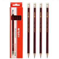 M&G晨光 AWP30802 木杆铅笔六角红黑抽条 HB(1盒装12支)当当自营