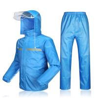 雨衣雨裤套装 分体男女款 单双层加厚全身防水电动摩托车雨披新品