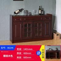 餐边柜储物柜收纳柜实木茶水柜新中式现代简约客厅美式酒柜大容量
