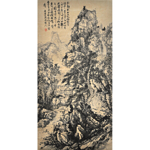 C222石涛(款)《深山幽居图》