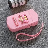 自拍神器 可爱潮顽皮豹相机包 TR750 80 700 600 550 350s创 粉色 大眼豹包+同款手绳