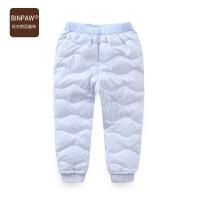 【2件1.5折到手价:69元】binpaw女童保暖羽绒裤儿童中大童裤