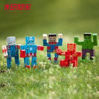 木玩世家魔方人偶复仇者联盟4木制手办钢铁侠美国队长变形机器人