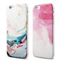 【全国包邮】hidog 苹果iPhone6手机壳4.7简约浮雕6plus保护套软5s外壳文艺女