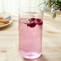 直筒透明耐热玻璃水杯 办公杯 300ml果汁杯 玻璃杯牛奶果汁饮料杯家用水杯啤酒杯