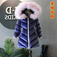 S儿童装加厚棉衣女童保暖外套小孩韩版衣服2018冬装新C832 O