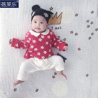 婴儿连体衣服宝宝冬季新生儿0岁3月春装满月季装连体衣服
