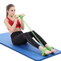 仰卧起坐健身器材家用运动拉力器脚蹬拉力绳 拉力器(4股绿色)+NBR瑜伽垫(10mm蓝色)