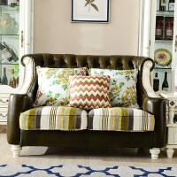 美式油蜡真皮沙发 三人沙发 客厅小户型简约欧式沙发