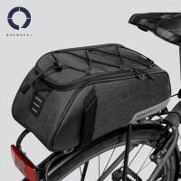 新款车包山地自行车包骑行尾包后货架包驮包单车装备配件新品 黑色 7L