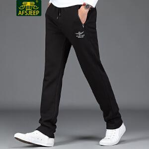 AFS JEEP战地吉普 2017冬季新品卫裤男加绒男士运动休闲卫裤男裤子F1745加绒