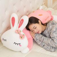 兔子毛绒玩具可爱枕头趴趴公仔小白兔布娃娃女孩长条睡觉抱枕女生