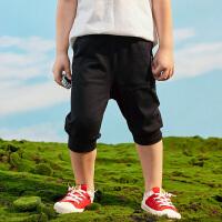 【3件3折到手价:46】小猪班纳童装男童七分裤儿童裤子夏装新款休闲裤短裤运动裤纯棉