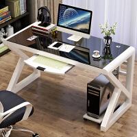 台式电脑桌家用简约单人办公桌子网吧定制竞技桌炫酷电竞游戏桌椅