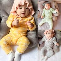 婴儿家居服内衣套装春款6女宝宝3个月新生儿季长袖小童睡衣