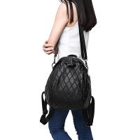 女士包包2018牛皮双肩包女时尚新款潮韩版百搭真皮背包女软皮