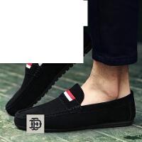 夏季男士豆豆鞋休闲鞋懒人透气韩版潮流潮鞋套脚乐福鞋男鞋