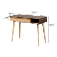 实木书桌简约现代伸缩北欧家用学生写字台电脑桌客厅卧室小户型 否