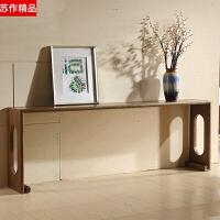 新中式实木禅意条案隔断 案几条桌玄关桌仿古玄关台供桌家具定制 整装