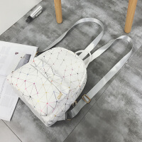 双肩包女2018新款女包校园百搭格子学生书包背包大容量旅行大包包