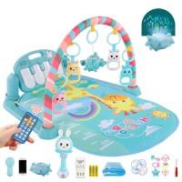 婴儿玩具0-1岁儿童多功能音乐健身架 新生儿脚踏钢琴早教益智玩具男孩女孩节日礼物