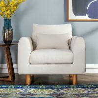 奇居良品 现代北欧简约客厅利来国际ag手机版 梅西森米白色水洗棉客厅组合沙发
