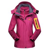 冲锋衣男款三合一两件套户外抓绒衣透气登山服女户外保暖外套加厚