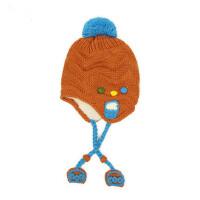 户外加绒帽子女童保暖套头帽儿童针织毛线帽 女孩帽