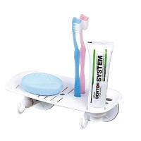 双庆 多用途洗漱架 吸盘肥皂架 香皂架香皂盒单层创意厨房肥皂架香皂架吸盘皂盒