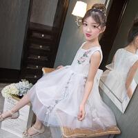 夏装5女童连衣裙子10小女孩9公主裙6衣服11儿童装13夏天8岁12 白色 TTX302