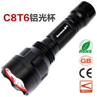 LED灯珠 日常携带 夜骑手电筒 CREE大功率可充电手电 超亮防水 c8t6远射强光