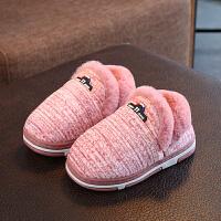 女童中大童棉鞋加厚牛筋底防滑加绒冬鞋儿童鞋毛毛鞋