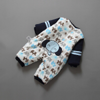婴儿冬装新生儿外出抱衣服0-3个月男女宝宝6秋冬季棉衣哈衣连体衣