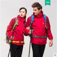 保暖透气登山服厚大码加绒户外防风冲锋衣男女潮牌可拆卸两件套三合一