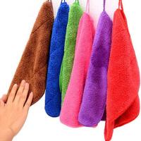 2-10条双层抹布吸水清洁毛巾擦手巾不沾油洗碗巾百洁布厨房洗碗布