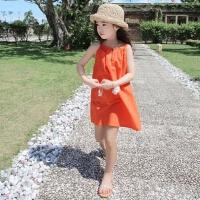 女童沙滩裙波西米亚海边度假吊带裙女大童背心裙儿童无袖连衣裙子
